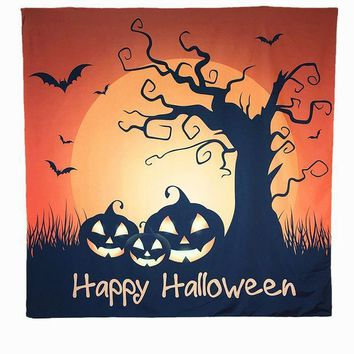 Happy Halloween Tapestry Beach Towel Hippie Wall Hanging Bedspread Dorm Home Party Festival Decor Sofa Cover Curtain Table Cloth