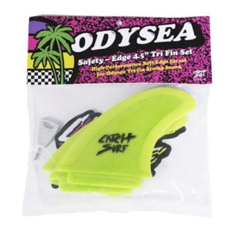 Catch Surf Odysea Safety Edge Quad Fin Set in Lime Green