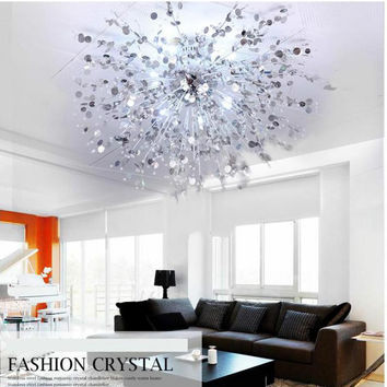 Remote control Modern ceiling lights for living room Bedroom hallway home ceiling lamp acrylic aluminum body LED ceiling Lamp