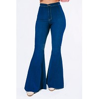What I'm Looking For Flare Jeans: Dark Denim