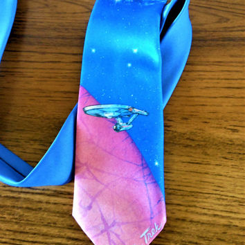 Ralph Marlin Star Trek Tie, Star Trek VI: The Undiscovered Country Necktie, Star Trek 25th Anniversary Necktie, Starship Enterprise Necktie