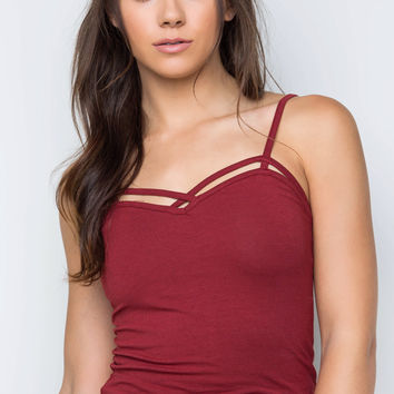 Genie Crop Top - Burgundy
