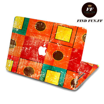 back cover keyboard decal mac pro decals stickers sticker Apple Mac laptop vinyl 3M surprise gift for her him beautiful 暖色格子-068