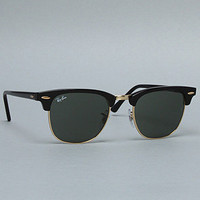Ray Ban Sunglasses Clubmaster Silicone Nose 49mm Logo Tinted Black