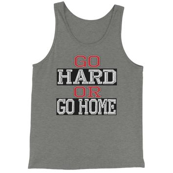 Go Hard Or Go Home Workout Jersey Tank Top for Men