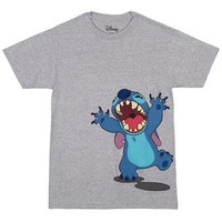 Lilo & Stitch Roar Side Disney Officially Licensed Adult Unisex T-Shirts - Grey