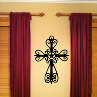 Texas Star Cross Vinyl Wall Art Decal