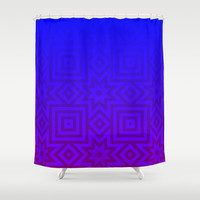 Twilight Tribal Shower Curtain by Lyle Hatch | Society6