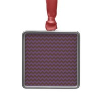 Chevron Violet Bellflower And Coffee Brown Ornaments from Zazzle.com