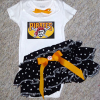 Girls Pittsburg Pirates Baseball Outfit, Baby Girls Coming Home Outfit, Baby Shower Gifts for Girls