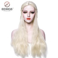 Cosplay Wig Long Hair Deep Wave Costume Wig Game of Thrones Mother of Dragons Daenerys Targaryen khaleesi Halloween Women's Wigs