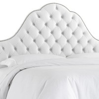 Alina Tufted Headboard, White Velvet