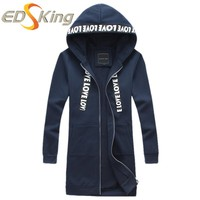 Mens long windbreaker letters Polyester solid color fibers 97% Other fibers 3% slim Flowers print Coat for man trench overcoat