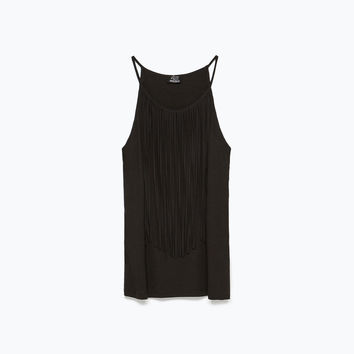 T-SHIRT WITH FRINGES