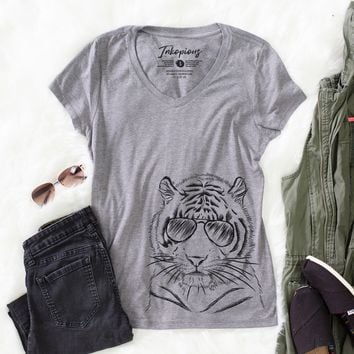 Taz the Tiger - Women's Relaxed Fit V-neck Shirt