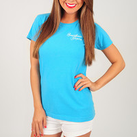RESTOCK: Southern Grace: Anchored To The South Shirt: Sapphire