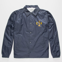 Captain Fin Fish House Mens Coach Jacket Navy  In Sizes