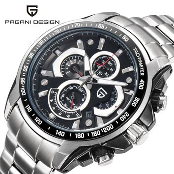 Pagani Design Men Watches Top Brand Luxury Waterproof Date Quartz Watch Man Steel Sport Wrist Watch Men Waterproof Clock