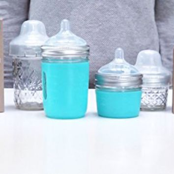 4 oz. Mason Bottle DIY Kit: BPA-free glass Baby bottles you can DIY using mason jars from home, Made in the USA.