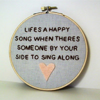 The Muppets 'Lifes A Happy Song' Embroidery Hanging by AdorkableMe