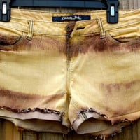 Sandal Wood and Brown Striped Shorts
