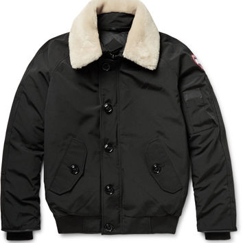 Canada Goose - Foxe Shearling and Leather-Trimmed Shell Down Bomber Jacket