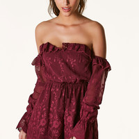 Let Me Love You Off Shoulder Romper