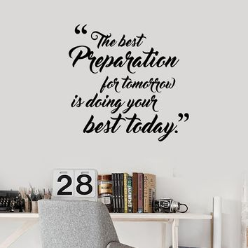 Vinyl Wall Decal Inspirational Quote Office Saying Motivation Decor Stickers Mural (ig5632)