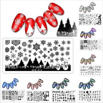 1Pc 6*12cm Halloween Chrismas Nail Stamping Plate Geometric Sports Nail Art Stamping Image Plate DIY Stamp Template Nail Stencil