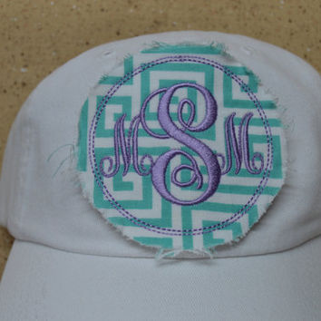 "THE ""MIA"" YOUTH Baseball Raggy Hat Chevron Monogrammed"