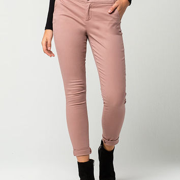 TINSELTOWN Solid Womens Chino Pants | Pants + Joggers