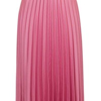 TALL Satin Pleated Midi Skirt - Sale & Offers