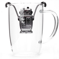 Stainless Steel Hanging Robot Tea Infuser Filter