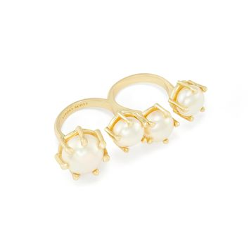 Harriet Double Ring in Pearl | Kendra Scott Jewelry