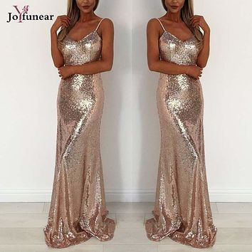 Sexy Backless Bandage Bodycon  Christmas dress  party elegant floor women deep v gold black shinning dress