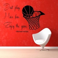 Wall Decals Sport Basketball Quote Gym Vinyl Sticker Murals Wall Decor KG290