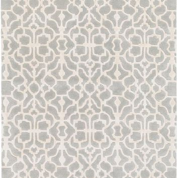 Surya Waldorf Medallions and Damask Gray WAR-1006 Area Rug
