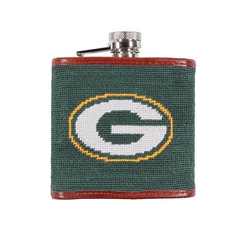 Green Bay Packers Needlepoint Flask by Smathers & Branson