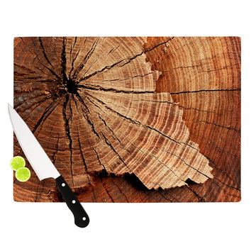 "Susan Sanders ""Rustic Dream"" Brown Wood Cutting Board"