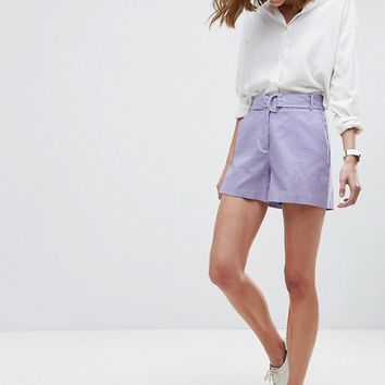 ASOS Tailored D-Ring Linen Shorts at asos.com