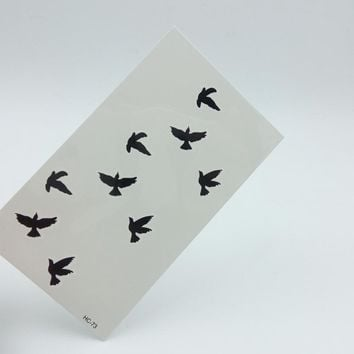 5pcs Bird Design Fashion Temporary Tattoo Stickers Temporary Body Art Waterproof Tattoo Pattern HC73