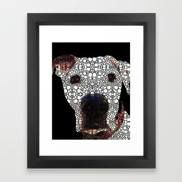 Stone Rock'd Dog 2 by Sharon Cummings Framed Art Print by Sharon Cummings