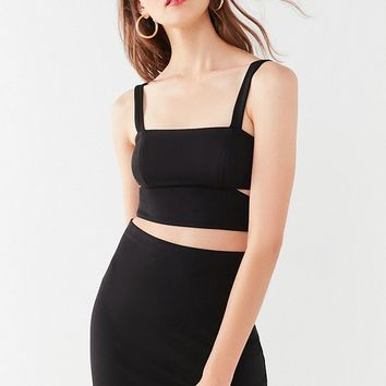 UO Cut-Out Cropped Two-Piece Set | Urban Outfitters