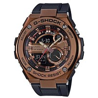 Casio Mens G-Shock G-Steel Watch - Ana-Digi - Copper-Tone - Black Strap