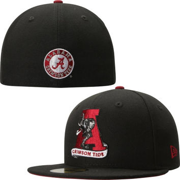 Alabama Crimson Tide New Era Classic 59FIFTY Fitted Hat - Black f70528181