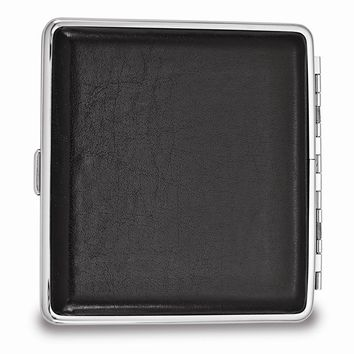 Black Faux Leather Cigarette/Card Case