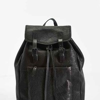 Mosson Bricke Leather Backpack- Black One
