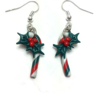 Christmas Earrings, Christmas Gift, Polymer Clay Earrings, Christmas Jewelry, Christmas Candy, Gifts for Her