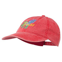 Texas State Bluebonnet Flower Embroidered Cap - Red OSFM