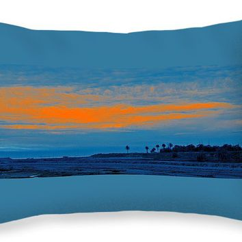 "Orange Sunset Throw Pillow for Sale by Ben and Raisa Gertsberg - 20"" x 14"""
